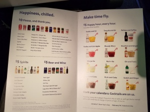 Southwest Airlines drinks