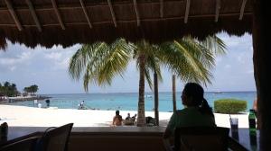 View at lunch at Chankanaab