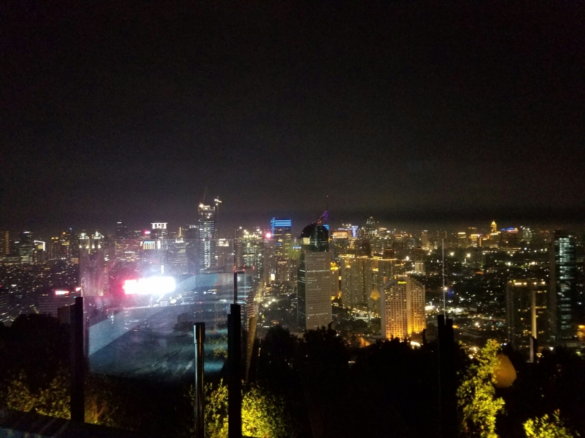 The view from Skye Bar Jakarta. It is hard to capture how massive this city is.