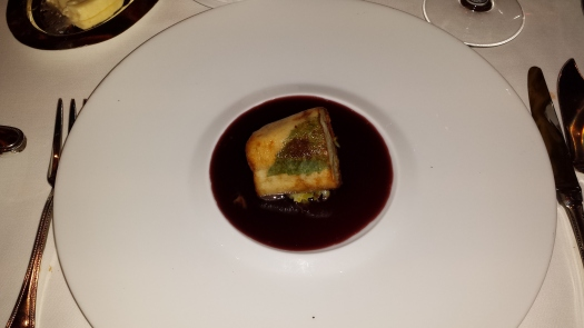 Sea bass in pinot noir reduction at Le Cirque