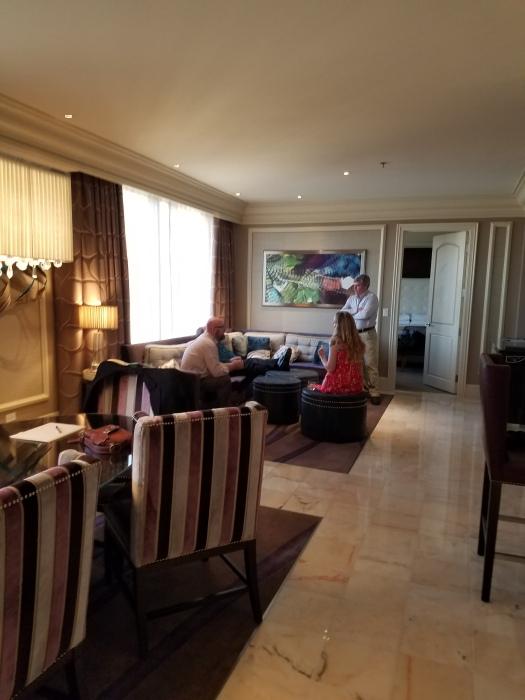 Bellagio Penthouse Suite living room.