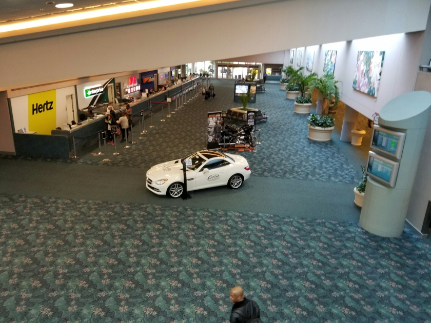 Daytona Beach car rental and baggage claim