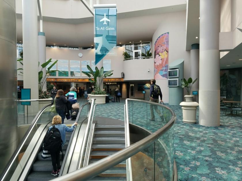 Daytona Beach security checkpoint.