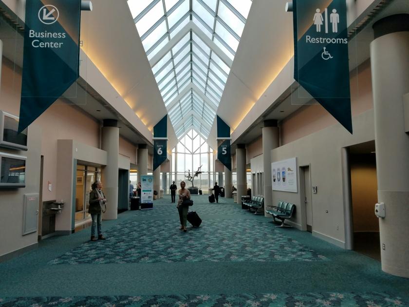 Daytona Beach airport gates and business center.
