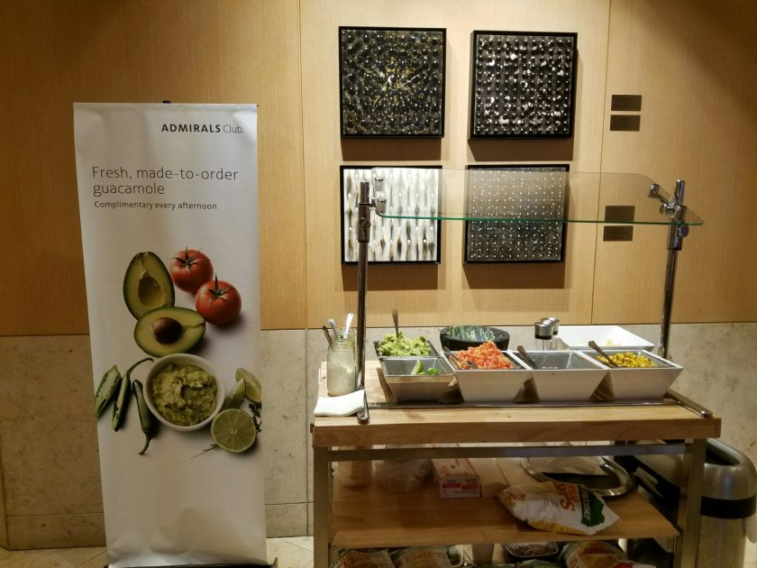 Guacamole every afternoon in the Admirals Club