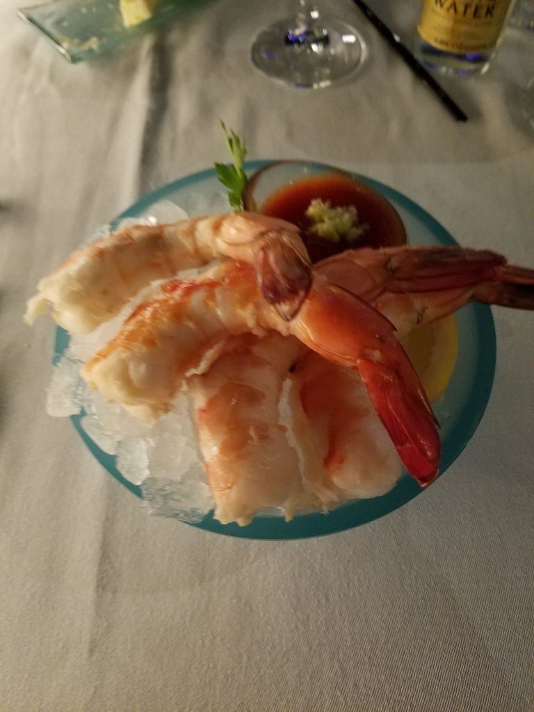Prime Steakhouse shrimp cocktail