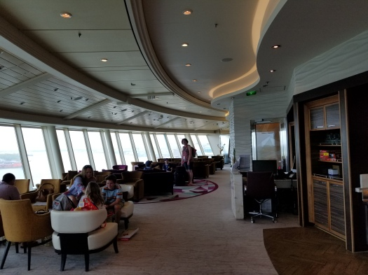 Indoor space in the Suite Lounge on the Liberty of the Seas.